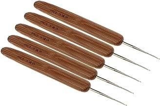 0,5 mm Longitud Total aproximada: 13,5 cm 0,75 mm 0,5 mm 0.75mm Multicolor como se Muestra en la Imagen Desconocido Paquete de 5 Agujas de Ganchillo de bamb/ú Natural para Tejer el Pelo