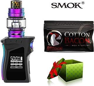 (綿は贈り物です)【SMOK正規品】SMOK MAG Baby Kit 電子タバコ 50W TC 本体 4.5ml TFV12 Baby Prince Tank プリンス アトマイザー Vape スターターキット 爆煙 (Black Prism) + Wick 'N' Vape製品 Cotton bacon