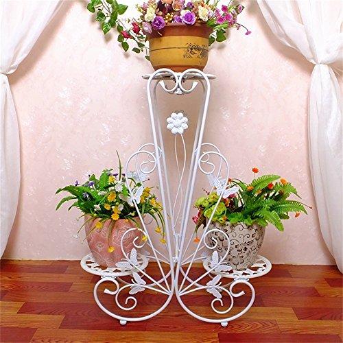 Les grilles de fleur de fer de style européen d'intérieur/tiennent le présentoir créatif de pot de fleur de plancher-modèle pour le balcon de salon (Couleur : #2, taille : 83cm)
