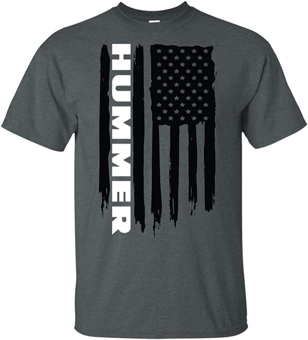 Free shipping on posting reviews WheelSpinAddict Men's Hummer H1 H2 Sale SALE% OFF T-Shirt USA Flag H3