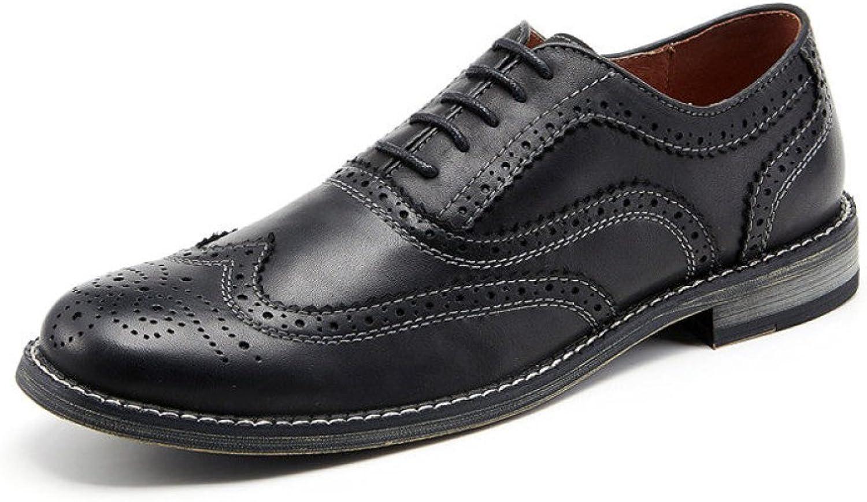 ZPFME Herren Leder Formelle Brogues Klassische Hochzeit Schuhe Handgefertigte Schnürschuhe Oxford Schuhe Für Mnner Business Schuhe