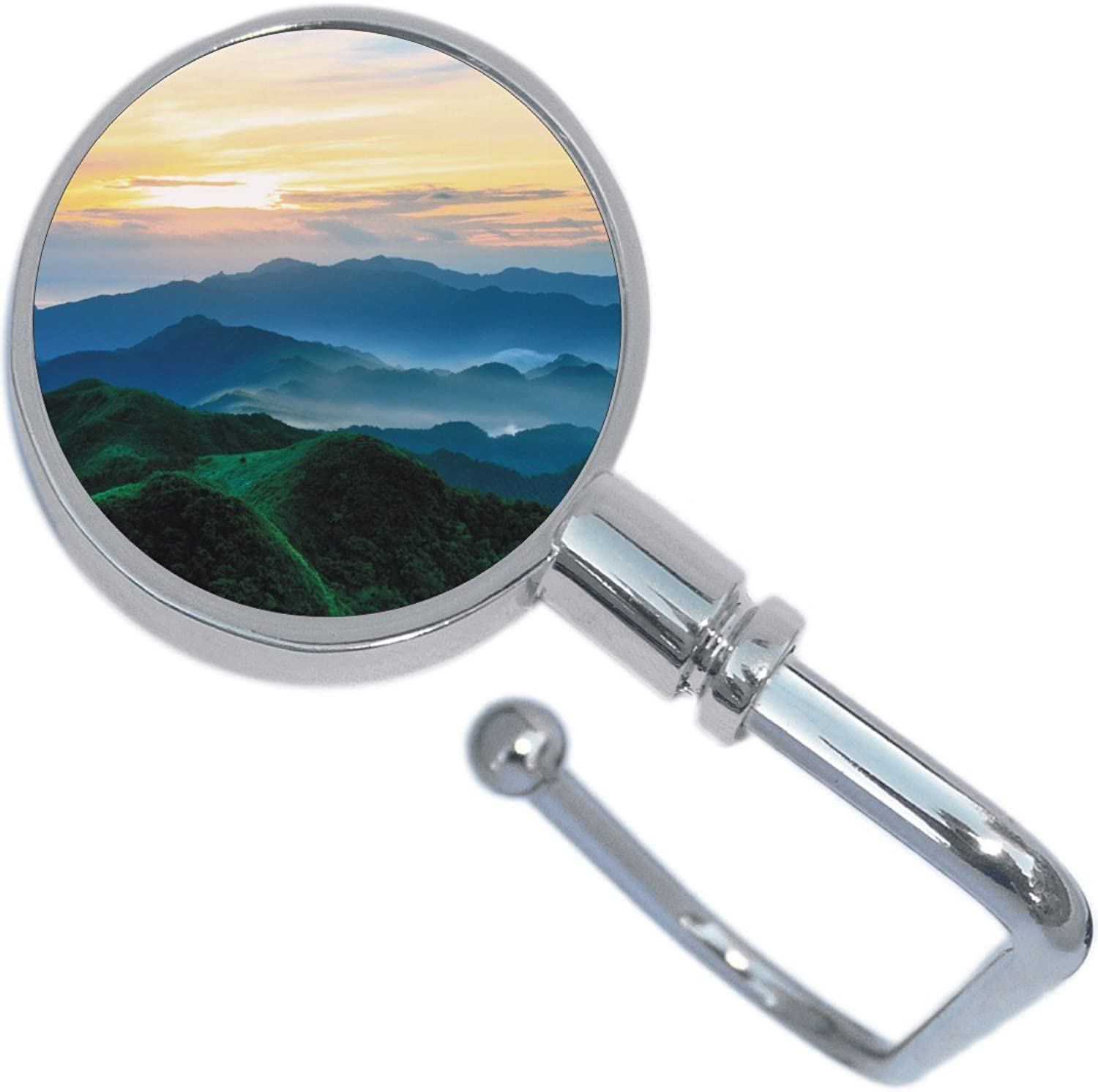 Square Sunrise Over Mountains Purse Hanger