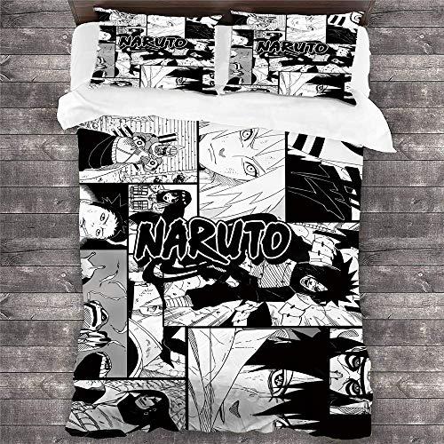CCBZLY Juego de ropa de cama Comic One Piece Tema, funda nórdica y funda de almohada