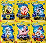 Hot Wheels Spongebob 20 Best Year Ever 6 Car Bundle Set