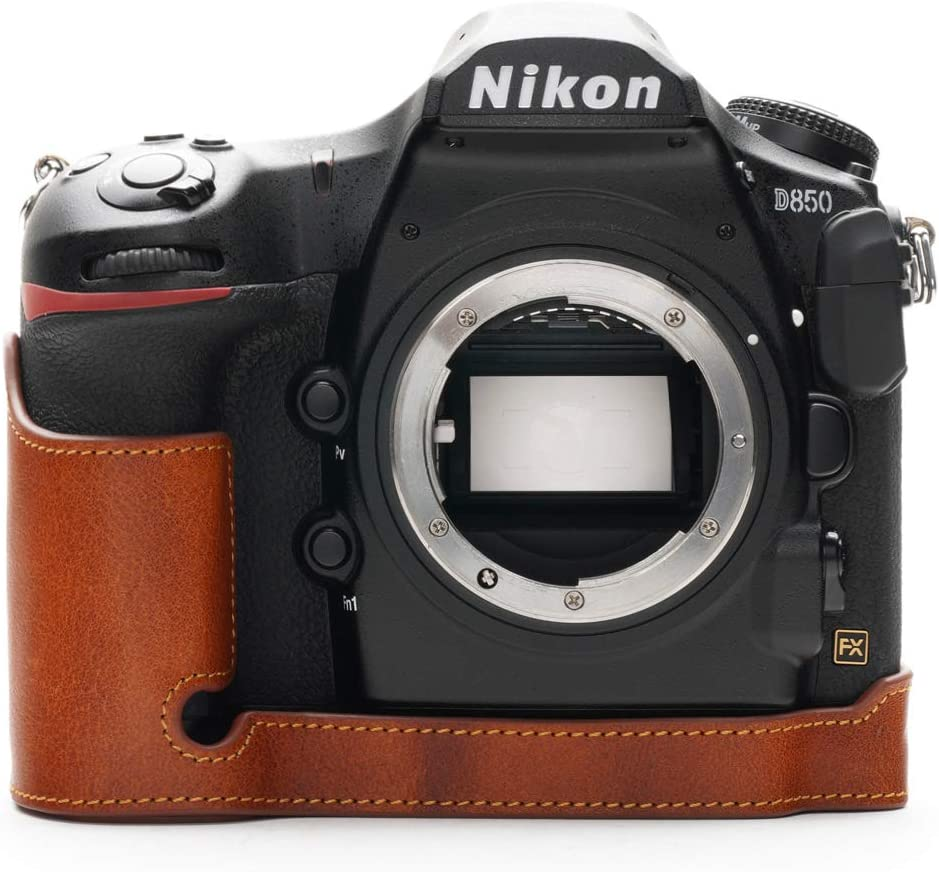 Nikon Complete Free Shipping D850 Regular store Camera Case BolinUS Genuine Leather Ha Real Handmade