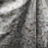 Meterware als Dekostoff- Silber Grundstoff Brauner Fleck