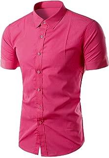 M/&S/&W Mens Basic Regular Long Sleeve Shiny Satin Silk Like Dance Prom Dress Shirt Tops