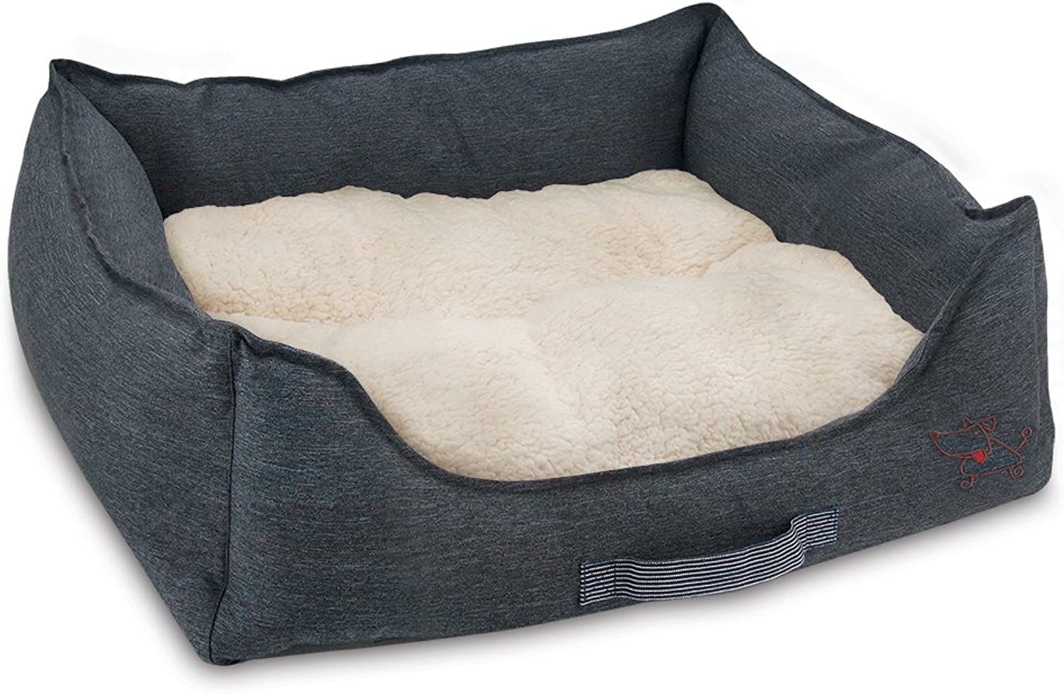 Best Pet Supplies Premium Oxford Polyester Filled Plush Bed, Large