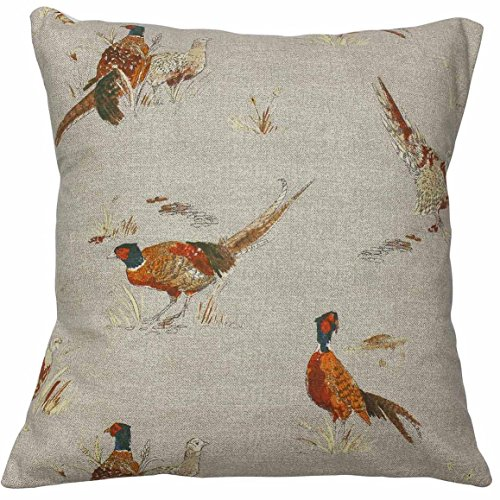 Harrison Cropper Country Animal Print Cushion Cover Stags Hare Cow Pig Pheasant Duck (Large Pheasant, 16')