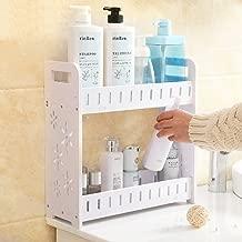 Bathroom Shelf, 2-Tier Utility Storage Shelf Rack, Bathroom Towel Shelf Multifunctional Kitchen Living Room Holder Wall Mounted