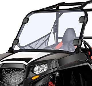 Front Full Windshield for Polaris RZR 570 Midsize 800 S 800 XP 900 & More Thick and Coated Scratch Resistance Windscreen