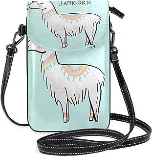 LORONA Llama Llamaicorn Drawing Unicorn Cell Phone Purse Wallet for Women Girl Small Crossbody Purse Bags