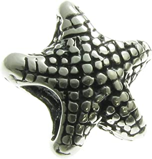 Sterling Silver Ocean Starfish Focal Bead Charm For European Charm Bracelets