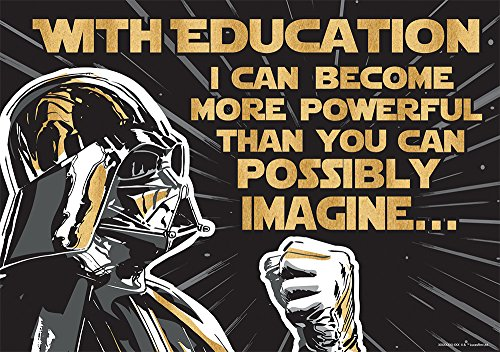Eureka Star Wars 'The Power of Education' Classroom Poster, 13'' W x 19'' H