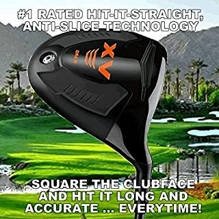 #1 Magic Distacne Offset Slice Killer Draw Anti-Slice Long Custom Golf Driver - Maximum Offset - Find the Fairway Everytime!