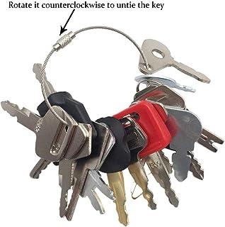 16 Keys Heavy Equipment Ignition Key Set Construction Key Set for John Deere New Holland Bobcat Hyster Forklift