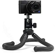 EVO Gimbals GS-Flex Mini Flexible Leg Tripod for DSLR or Mirrorless Cameras up to 3Kg - Includes Rugged CNC Aluminum 360 Ball Head with EVO Gimbals 1 Year US Warranty
