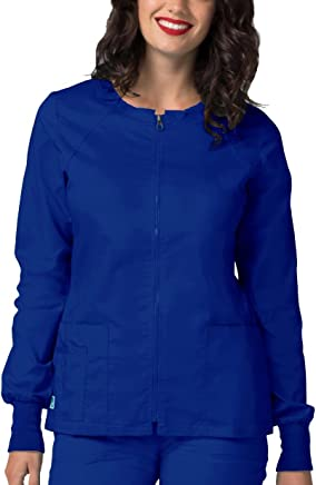 Adar Pop-Stretch Junior Fit Zip Front Warm Up Jacket