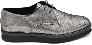 TOD'S Luxury Fashion Womens MCBI37136 Silver Lace-Up Shoes   Season Outlet