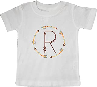 inktastic R Monogram Letter Tribal Wreath Baby T-Shirt