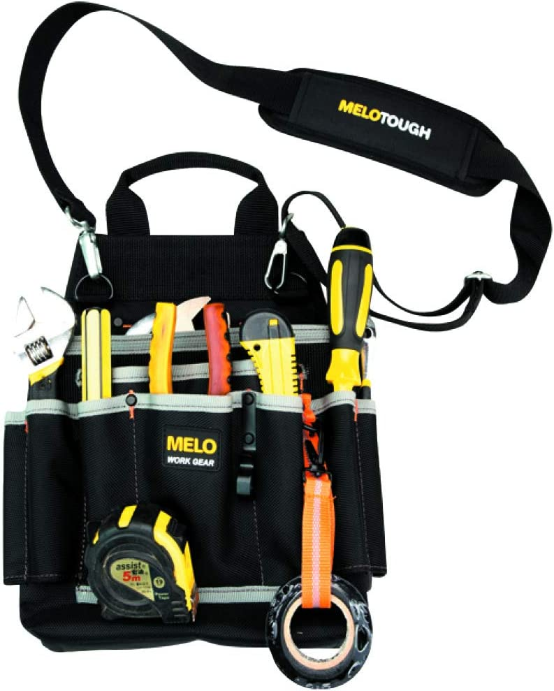 MELOTOUGH Professional Electric Tool Pouch Shoulder Tool Carrier with Multiple Pockets, Tool Organizer for Technician/ Maintenance and Electrician's Tools: Sports & Outdoors