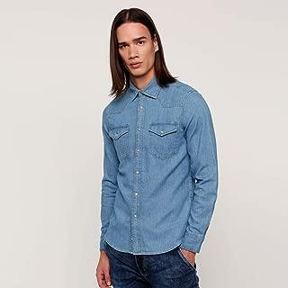lee Cooper Shirts For Men, Blue S