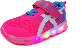TeeniTiny Light Shoes for Kids Boys Girls & Baby (06 Months - 4 Years) Pink, Blue & Black