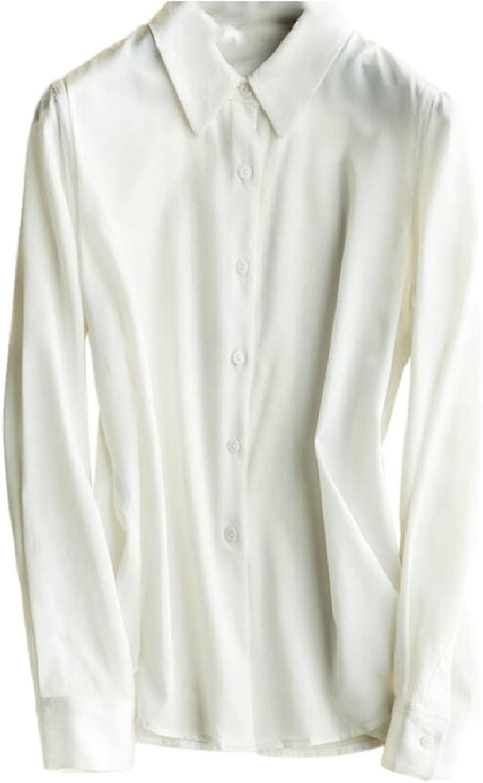 Jxfd Womens Long Sleeve Button Down Casual Shirt Blouse Tops