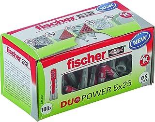 fischer DUOPOWER 5 x 25, universele pluggen, krachtige 2-componenten pluggen, kunststof pluggen voor bevestiging in beton,...