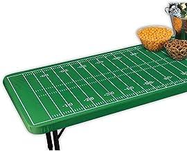 غطاء طاولة بتصميم ملعب كرة القدم بمقاس ملائم عدد 2 من أماسكا، متعدد الألوان