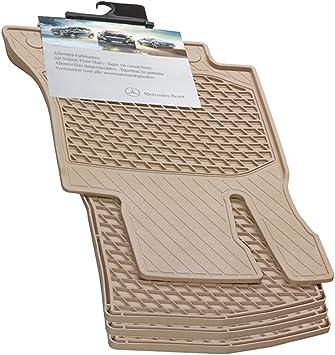 2007-2013-BEIGE Mercedes Benz Genuine OEM S Class All Weather Rubber Floor Mats