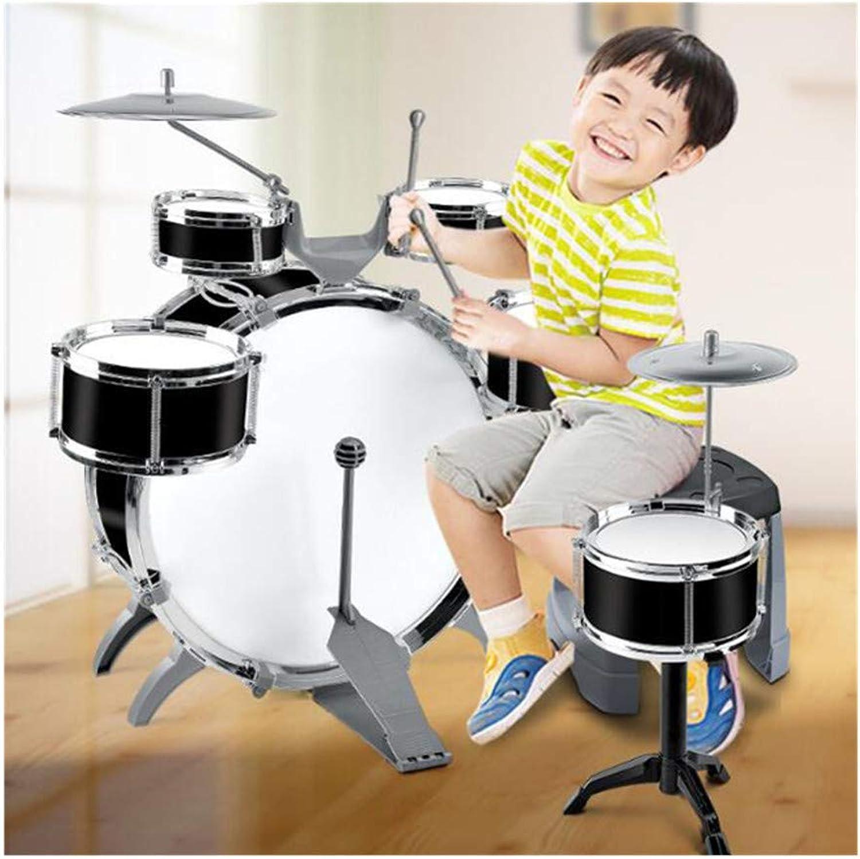 estar en gran demanda WDXIN Juego Juego Juego de batería para Niños Jazz Juego de 8 Piezas 6 Baterías 2 platillos Pedal para patear en la Silla 2 Baquetas adecuadas para Niños de 1-6 años Juguetes Musicales Regalos  Descuento del 70% barato