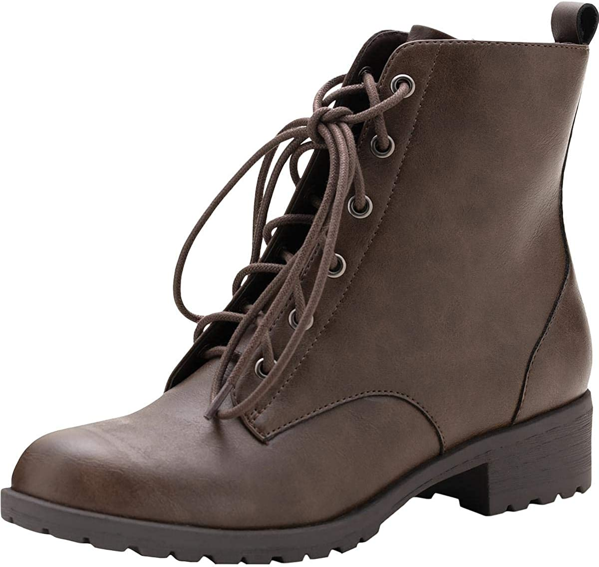 American Rag Womens Franie Leather Closed Toe Ankle Combat Boots