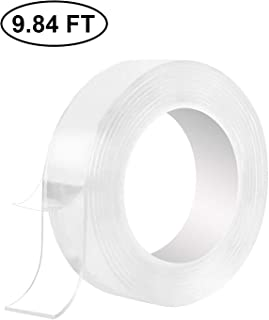 Traceless Washable Adhesive Tape,Transparent Strong Washable Adhesive Traceless Removable And Reusable Anti Slip Tape For Home,Wall,Room,Office Decor (9.84 ft)
