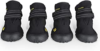 Zacro Protective Dog Boots - 4PCS Waterproof Shoes Outdoor Shoes for Medium to Large Dogs, Protectors Shoes with Two Reflective Fastening Straps and Rugged Anti-Slip Sole, Size:4-8