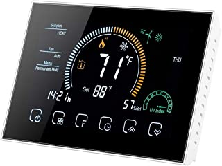Boutique de Hanks HWJ BHP-8000-WIFI-B 3H2C Smart Home Pompe à Chaleur Ronde Chambre Miroir boîtier de Thermostat avec Conn...