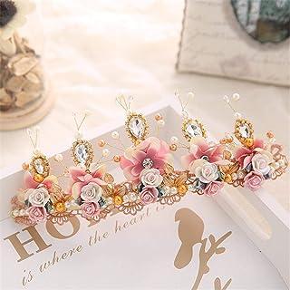 FELICILII Accessori for Capelli Stile Sposa Sposa Copricapo da Sposa Corona Perline di Cristallo Corona di Capelli
