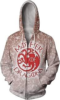 GoT House Stark Direwolf 3D Printed Zip Up Hoodie Hooded Coat Jacket Blazer