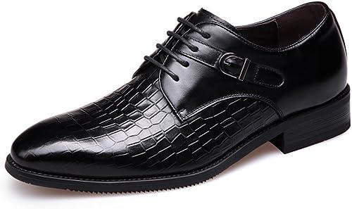 Chaussures De Cuir d'affaires Bout Pointu pour Hommes Mariage Lace Up Robe Bureau Derby Chaussures Formelles