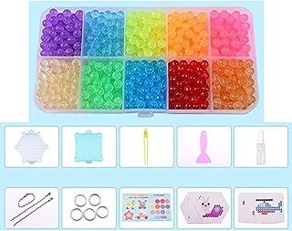 Water Fuse Beads Kit Water Spray Beads Set Water Sticky Beads Fun Craft Beads for Kids Magic Water Sticky Beads DIY Art Crafts Toys for Kids (#A, Novice)