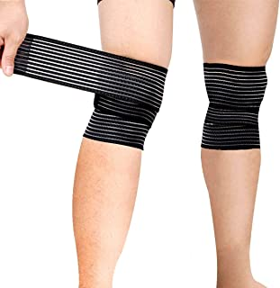 Sports Knee Wraps (Pair) for Weight Lifting, Gym Workout,...