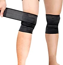 emall Sports Knee Wraps (Pair) for Weight Lifting, Gym Workout, Cross Training WODs,Fitness & Powerlifting - Knee Straps f...