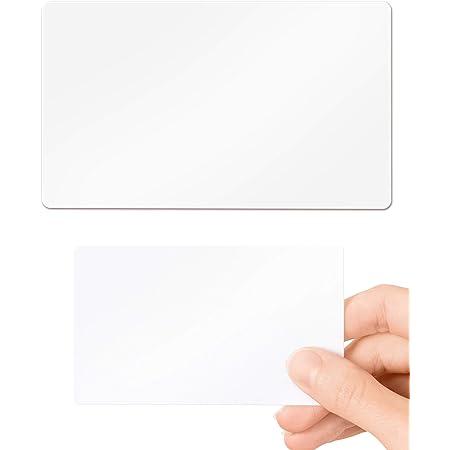 Cartes en PVC Plastique – Lot de 100 vierge Blanc Standard CR80 Format carte de crédit 86x54mm d'épaisseur 320 Micron avec 175 Mic papier dos imprimables pour carte d'identité imprimantes
