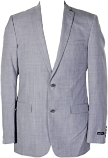 Bar III Mens Heathered Two Button Blazer Jacket