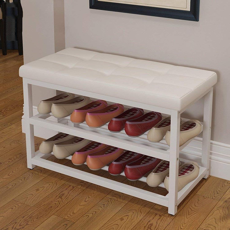 BXJ Simple shoes Bench, Solid Wood shoes, multiunctional Locker, shoes Rack. - Shelf shoes (Size   90cm)
