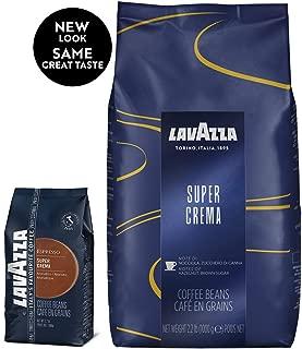Lavazza Super Crema Espresso Whole Bean Coffee, 2.2-pound Bag 2-pack