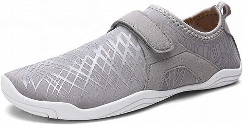 Fuxitoggo Chaussures de de pataugeoire Couples de Loisir en Plein air liant Légères Chaussures antidérapantes en amont (Couleuré   gris, Taille   46)  vente au rabais