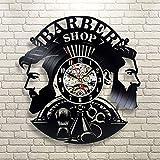 BBNNN bershop Reloj de Pared diseño Moderno ber Shop Reloj récord ber Shop Reloj de Pared decoración ber Salon