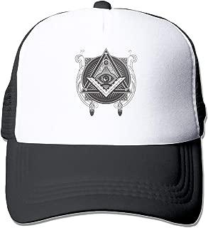 Triangle Pyramid Eye Mesh Baseball Caps Unisex Adjustable Trucker Style Hats Black