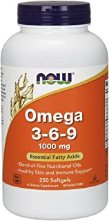 NOW Supplements, Omega 3-6-9 1000 mg with a blend of Flax Seed, Evening Primrose, Canola, Black Currant and Pumpkin Seed O...